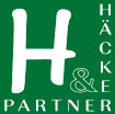 grün-weißes Logo von Häcker und Partner